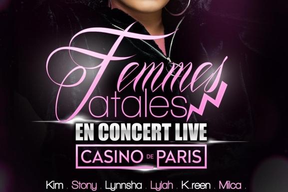 Casting.fr vous invite au Casino de Paris pour le Concert Live des Femmes Fatales !