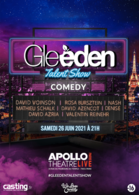 Après avoir fait plus de 5 millions de vues, le Gleeden Talent Show revient le 26 Juin 2021 pour une 3ème édition à l'Apollo Théâtre
