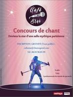 """Participez à un tout nouveau concours de chant """"Café Star"""" et devenez la star d'une salle mythique parisienne !"""