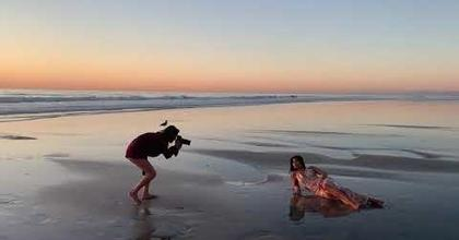 Photoshoot with Monica Hahn at La Jolla beach San Diego - November 2019